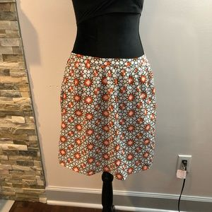 NWT Anthropologie TULLE Geo Print Skirt Size L